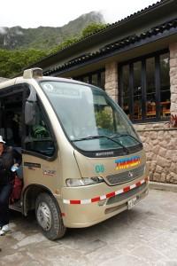 世界的観光地、バスもキレイ。