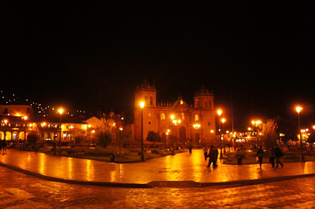 幻想的な広場